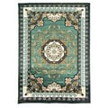 Kingdom Design 141 Light Green Area Rug (5' x 7')