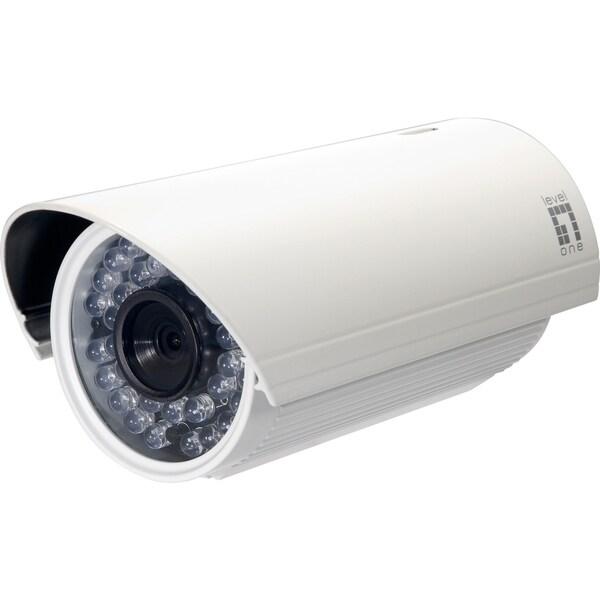 LevelOne H.264 3-Mega Pixel FCS-5052 10/100 Mbps PoE Network Camera w