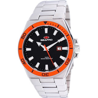 Seapro Men's Storm Watch with Orange Bezel