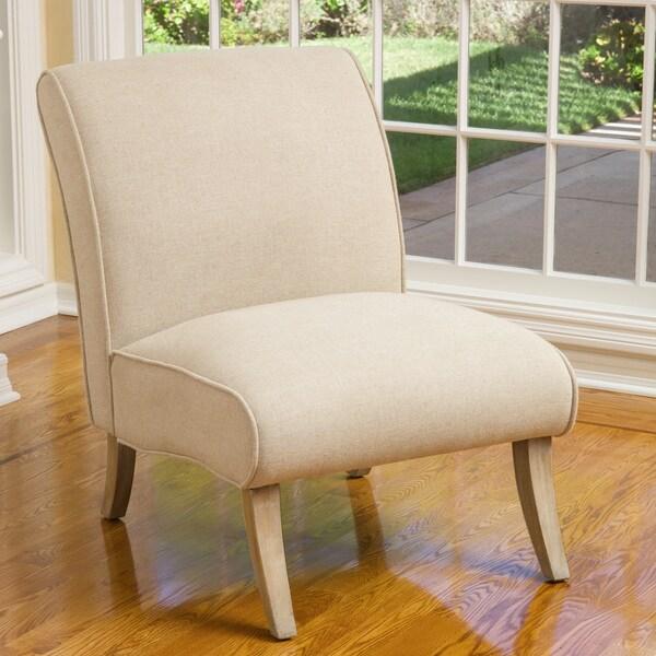 Christopher Knight Home Georgette Beige Linen Slipper Chair