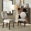 Inspire Q Zoey Hip Chevron Fabric Round Back Side Chair (Set of 2)