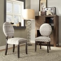 Zoey Hip Chevron Fabric Round Back Side Chair (Set of 2)