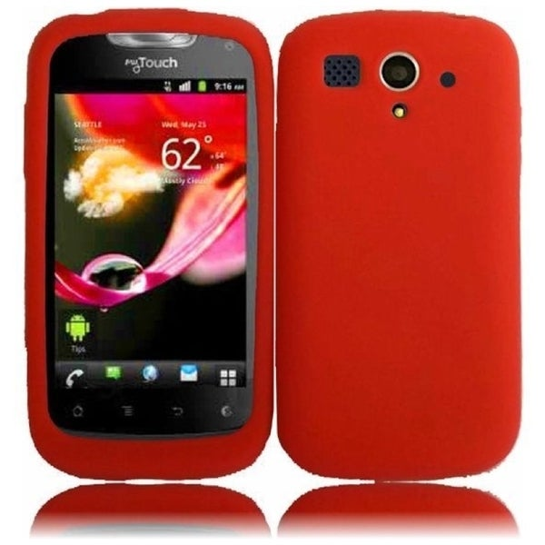 INSTEN Red Soft Silicone Phone Case Cover for Huawei myTouch U8680