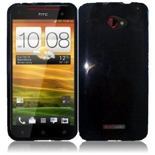 INSTEN Black TPU Phone Case Cover for HTC Droid DNA 6435