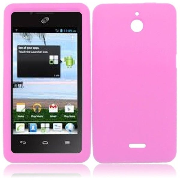 INSTEN Baby Pink Soft Silicone Phone Case Cover for Huawei Ascend Plus H881C