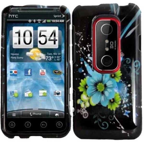 INSTEN Blue Flower for HTC EVO 3D/ EVO V 4G