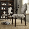 INSPIRE Q Paulina Mocha Honeycomb Round Back Dining Chair (Set of 2)