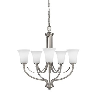 Barrington 5-light Brushed Steel Chandelier