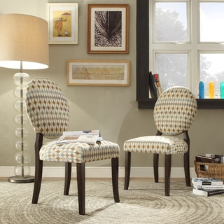 INSPIRE Q Paulina Diamond Impressions Round Back Dining Chair (Set of 2)