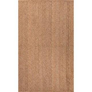 Handmade Taupe/ Tan Jute Natural Area Rug (8' x 10')