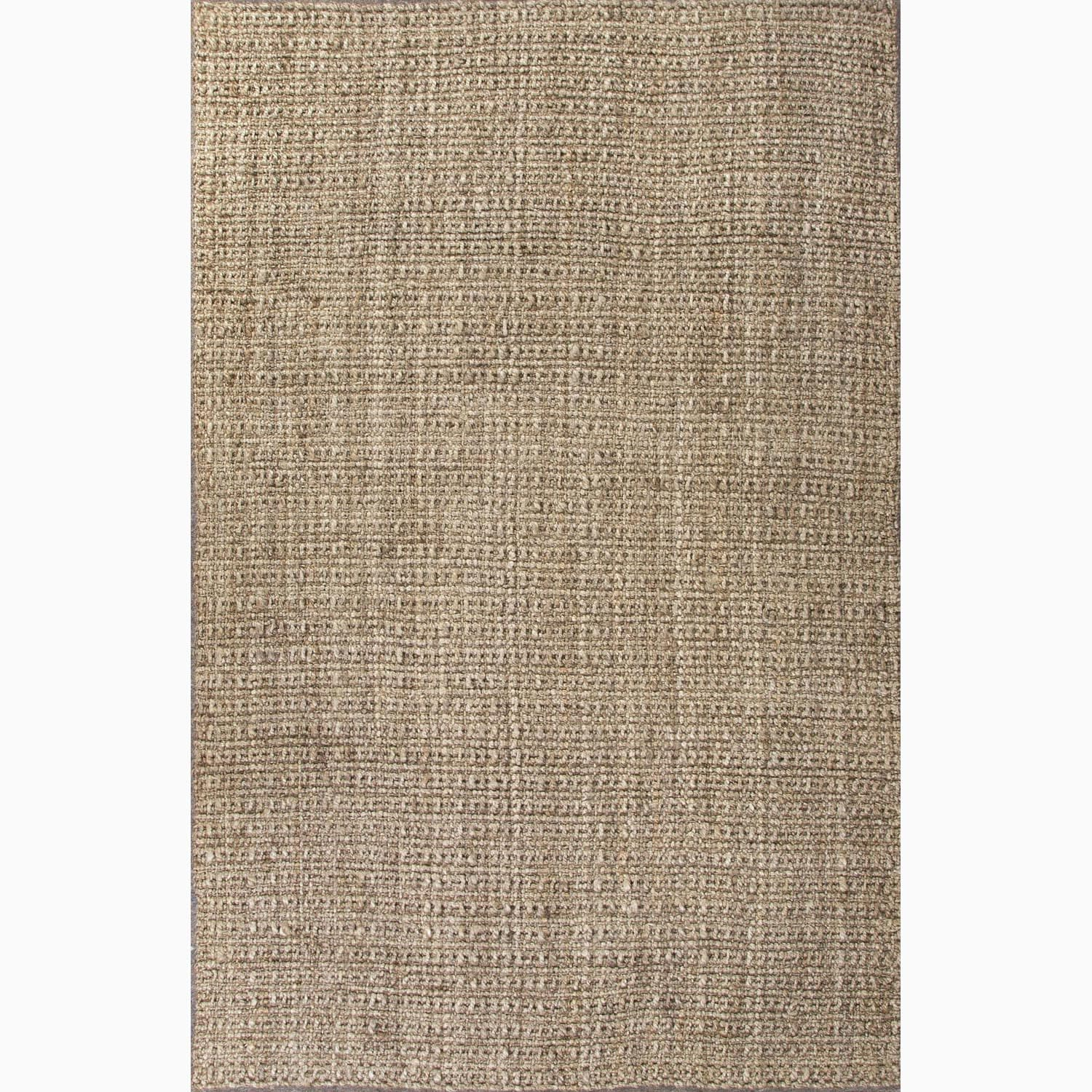Handmade Plain Taupe/ Tan Jute Natural Rug (5 x 8)