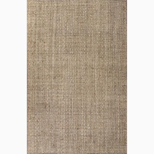 Handmade Plain Taupe/ Tan Jute Natural Rug (5 x 8)