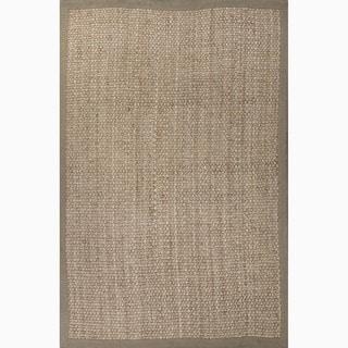 Handmade Taupe/ Tan Contemporary Jute Natural Rug (8' x 10')