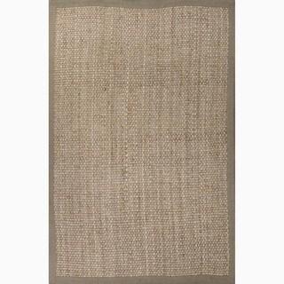Hand-Made Taupe/ Tan Jute Natural Rug (5X8)