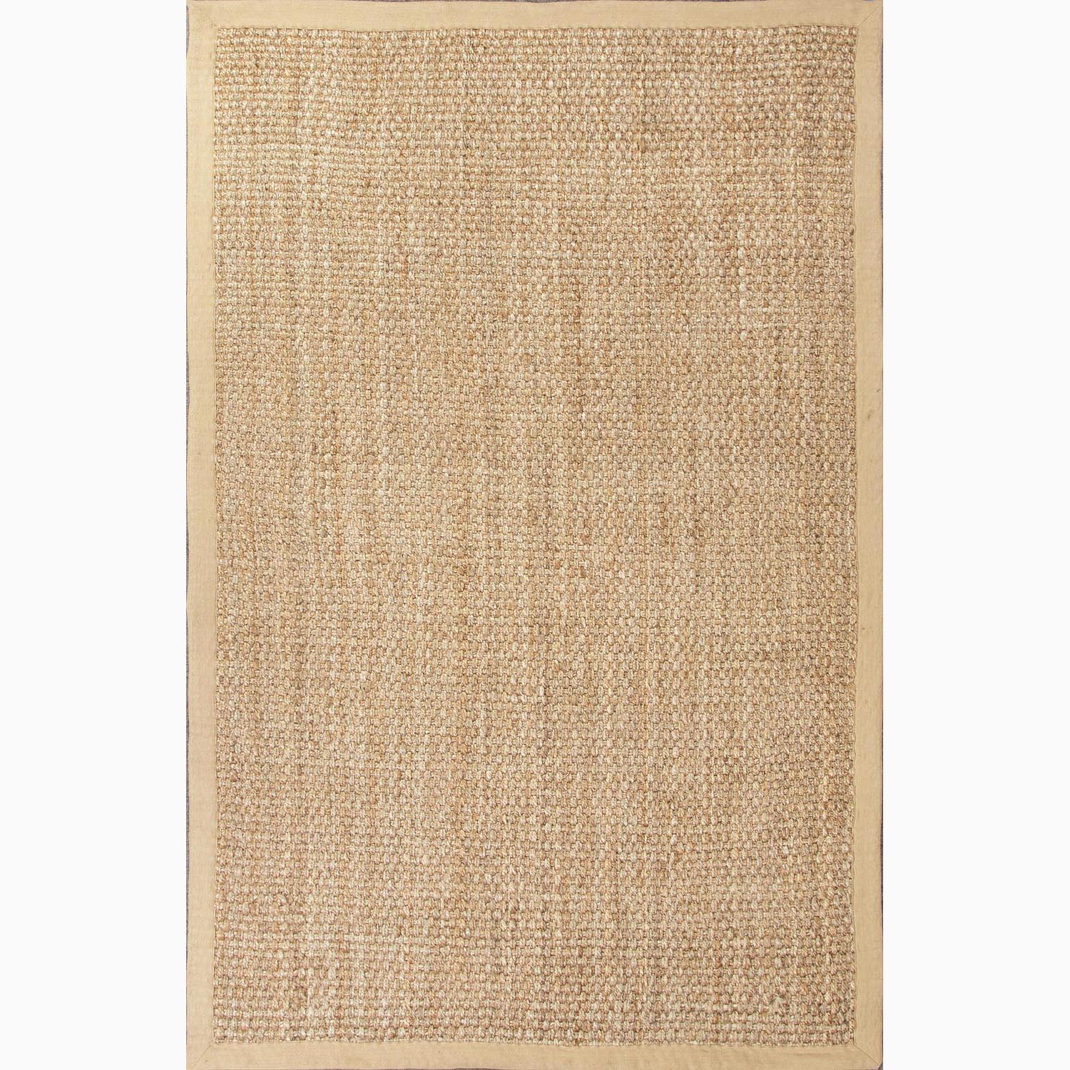 Handmade Taupe/ Tan Jute Natural Accent Rug (2' x 3')
