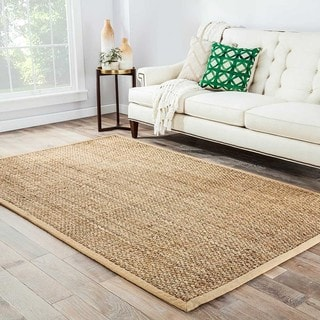 Hand-Made Taupe/ Tan Jute Natural Rug (8x10)