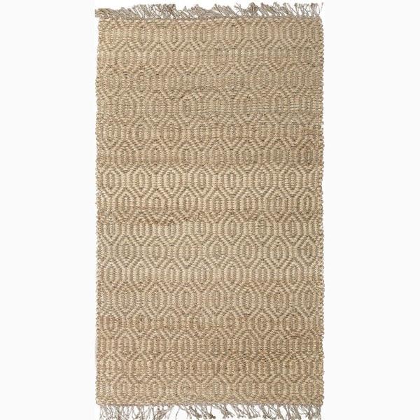 Handmade Taupe/ Tan Jute Natural Rug (3 x 5)