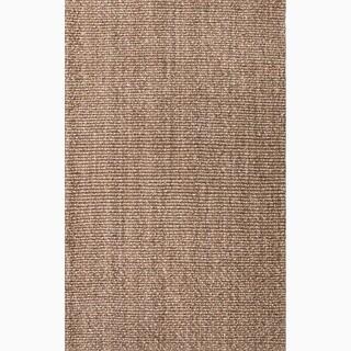 Handmade Contemporary Taupe/ Tan Jute Natural Rug (8' x 10')
