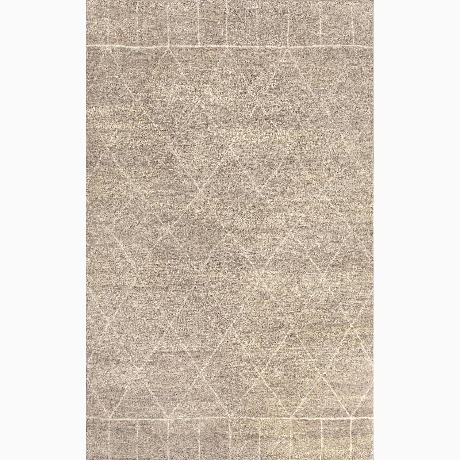 Handmade Moroccan Pattern Gray/ Ivory Wool Ultra-plush Area Rug (5' x 8')