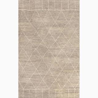 Handmade Moroccan Pattern Gray/ Ivory Wool Rug (9 x 12)
