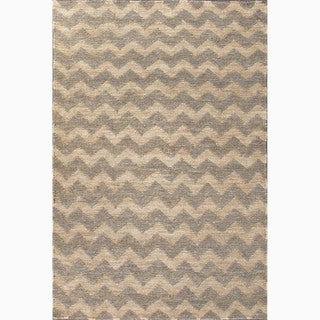 Hand-Made Gray/ Ivory Hemp Eco-friendly Rug (4X6)