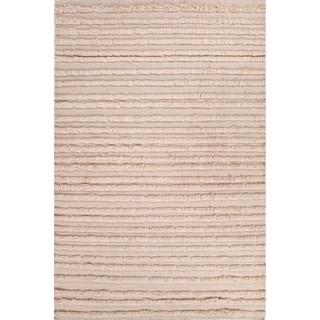 Handmade Gray/ Ivory Wool Te x tured Rug (9 x 12)