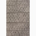 Handmade Gray/ Ivory Wool Easy Care Rug (9 x 12)