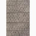 Handmade Gray/ Ivory Wool Easy Care Rug (8 x 10)