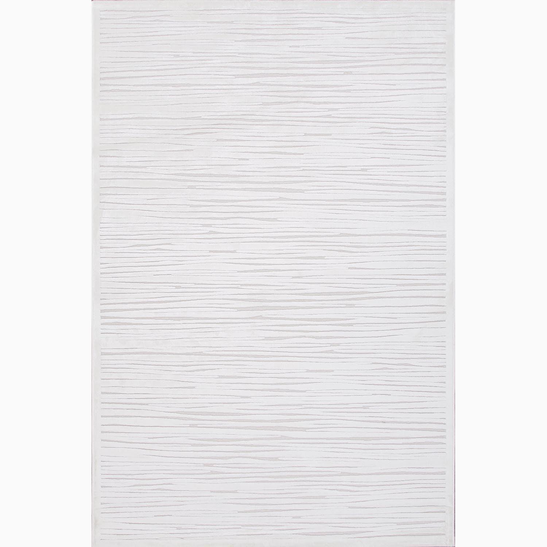 Handmade Ivory/ Taupe Art Silk/ Chenille Modern Rug (9 x 12)
