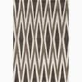 Hand-Made Geometric Pattern Brown/ Ivory Polyester Rug (3.6X5.6)
