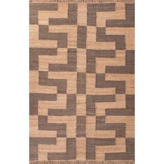 Handmade Taupe/ Gray Hemp Eco-friendly Rug (8 x 10)