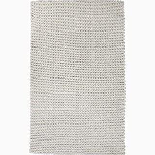 Handmade Gray Wool Ultra Plush Rug (8 x 10)