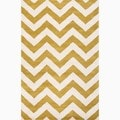 Hand-Made Geometric Pattern Green/ Ivory Wool Rug (8X11)