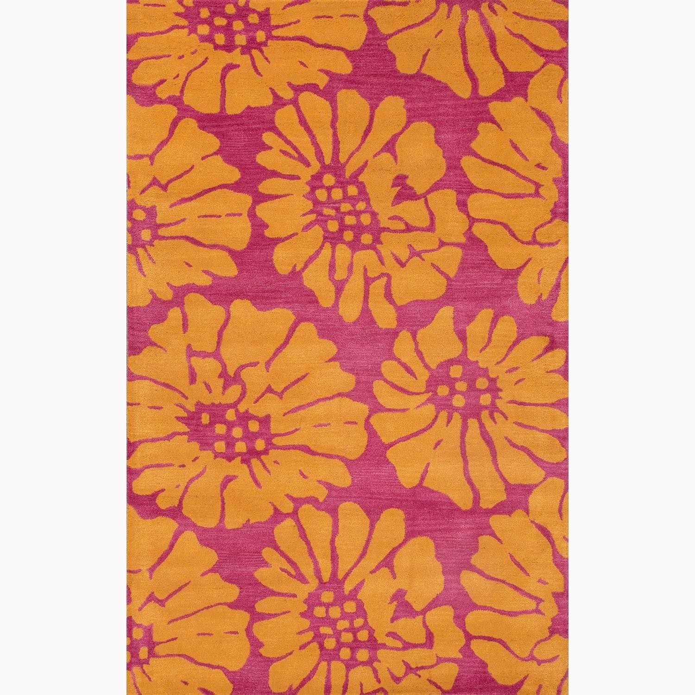 Overstock.com Hand-Made Pink/ Orange Wool Plush Pile Rug (2X3) at Sears.com