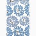 Handmade Blue/ Ivory Wool Easy Care Rug (2 x 3)