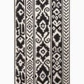 Handmade Tribal Pattern Ivory/ Black Wool Rug (3'6 x 5'6)