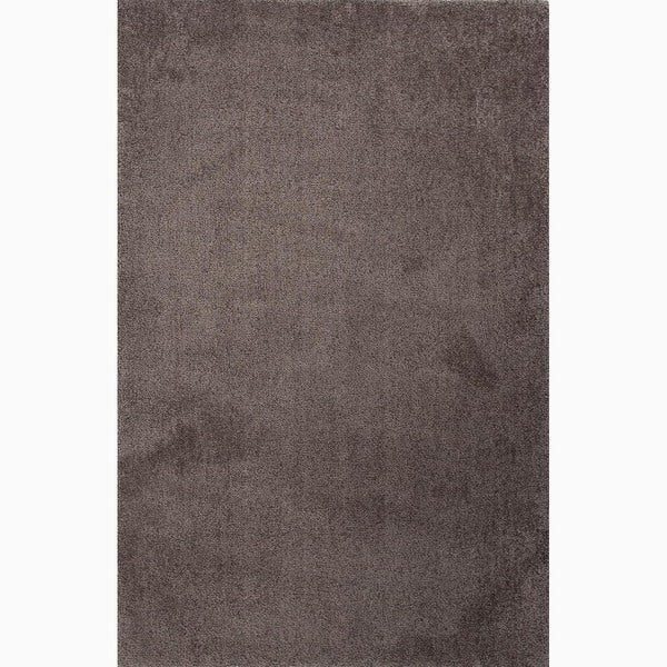 Handmade Gray Polyester Plush Pile Area Rug (5 x 8)