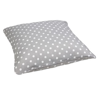 Grey Dots Corded Outdoor/ Indoor Large 28-inch Floor Pillow