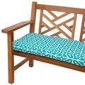 Dossett Teal 48-inch Indoor/ Outdoor Corded Bench Cushion