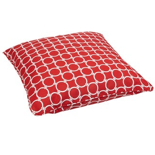 Linked Red Corded Outdoor/ Indoor Large 28-inch Floor Pillow