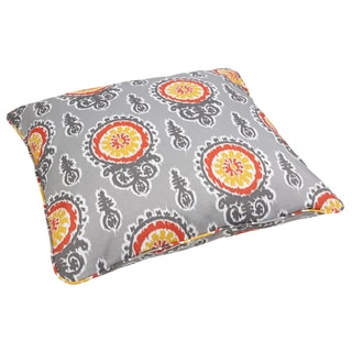 Vintage Citrus Corded Outdoor/ Indoor Large 28-inch Floor Pillow