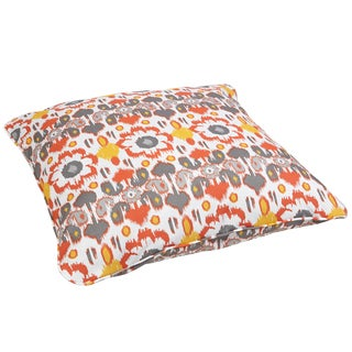 Floral Citrus Corded Outdoor/ Indoor Large 28-inch Floor Pillow