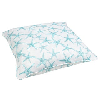 Aqua Starfish Corded Outdoor/ Indoor Large 28-inch Floor Pillow