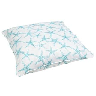 Aqua Starfish Corded Outdoor/ Indoor Large 28-inch Floor Pillow