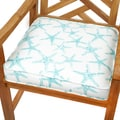 Aqua Starfish 19-inch Indoor/ Outdoor Corded Chair Cushion