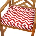 Red Chevron 19-inch Indoor/ Outdoor Corded Chair Cushion