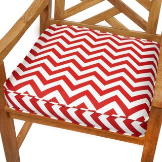 Red Chevron 20-inch Indoor/ Outdoor Corded Chair Cushion