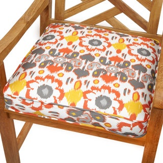 Floral Citrus 20-inch Indoor/ Outdoor Corded Chair Cushion