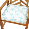 Aqua Starfish 20-inch Indoor/ Outdoor Corded Chair Cushion