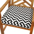 Black Chevron 20-inch Indoor/ Outdoor Corded Chair Cushion